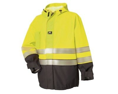 Helly Hansen Mens Lillehammer High Vis Waterproof Jacket Hooded Workwear S-3XL
