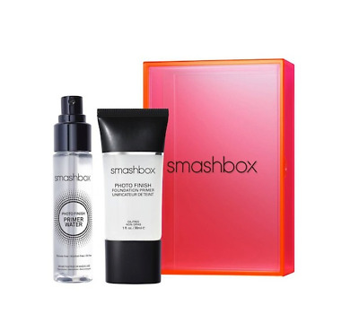 Smashbox Light It Up Primer Duo Full size Photo Finish Primer & Travel Water NEW