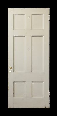 White Wooden Six Panel Door
