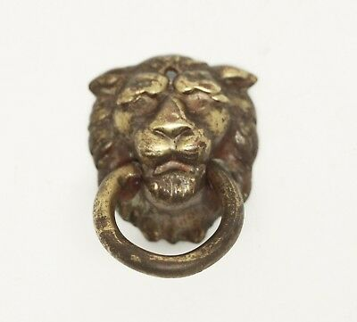 Antique Lion Ring Drawer Pull