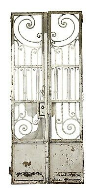 19th Century Tall Wrought Iron Entry Gates or Doors