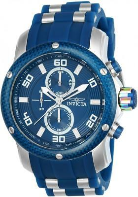 Invicta 24150 Pro Diver Scuba Quartz Chronograph Blue Silicone Strap Mens Watch