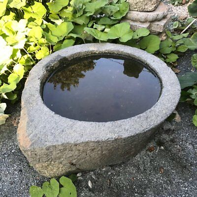 """China Great Antique Stone """"Tear Drop"""" Planter Water Basin, 32"""""""