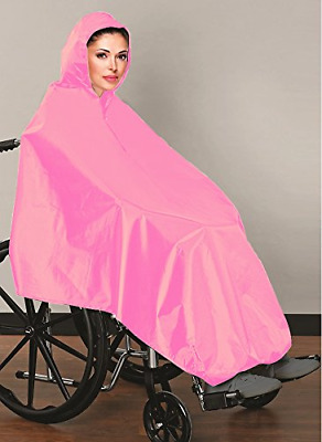 AdirMed Wheelchair Waterproof Poncho With Hood - Rain Protection Cape - Water &