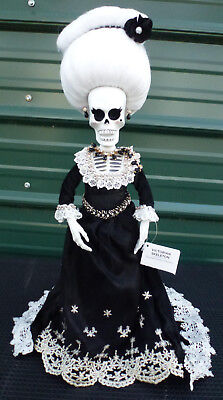 Madame Skeleton Tabletop Doll tree topper halloween day of the dead victorian