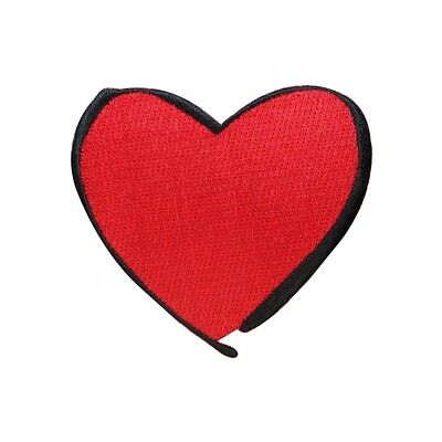 ID 3282D Silver Heart Outline Patch Love Shape Embroidered Iron On Applique