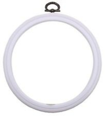 "Dmc 5"" White Round 2 In 1 Embroidery Hoop Mv0033L/130  Free Uk Post And Packing"