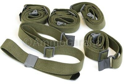 (5ea) 2-Point Rifle Slings Green Web GI Spec for use w/ Appleseed Liberty 10/22