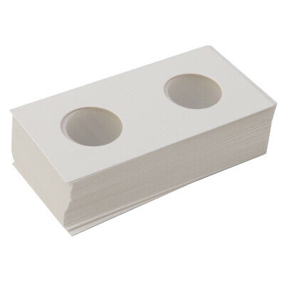 100X Cardboard Coin Holders Flips Mylar Coin Collection Supply 23/25mm White
