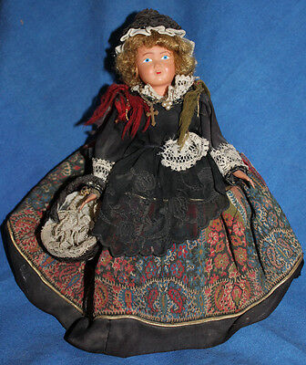 Vintage French Regional Celluloid Doll, 10""