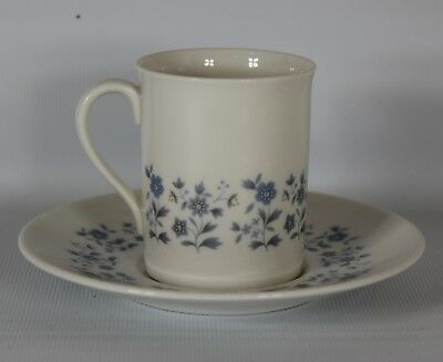 Royal Doulton Miniature Teacup & Saucer Galaxy Made In England Blue Floral