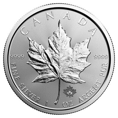 2018 Silver Maple Leaf 1 oz Silver Coin | Direct From Canadian Mint Tube