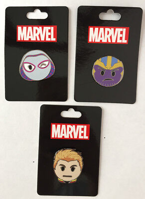 614a439fd9 Marvel Pin SDCC 2017 Captain Marvel Spider Gwen Thanos Emoji incentive Pin  Set
