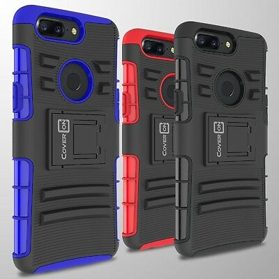 Tough Protective Hard Case & Belt Clip Holster Cover for OnePlus 5T