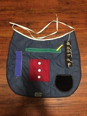 Posey Activity Apron Cognitive Function Tactile Stimulation Motor Skill Aid LN