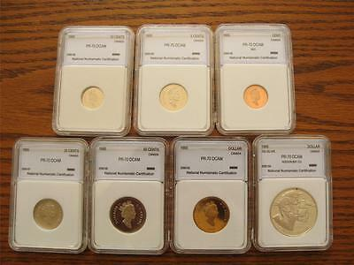 1995 Canada ENCAPSULATED 7 COIN PROOF MINT SET