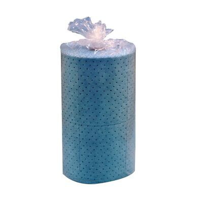 "Spilfyter M-90 Blue Oil Only Premium Double Weight Sorbent Roll, 150' L x 32"" W"
