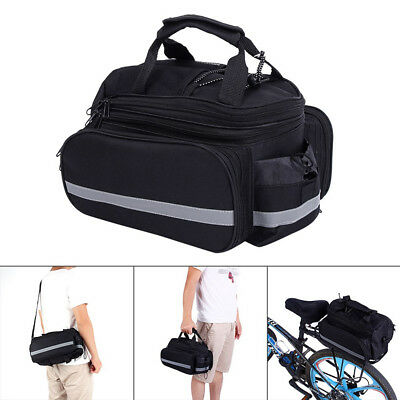Bike Tail Trunk Bag Bicycle Cycling Rear Seat Pannier Easy Clean Rack Trunk AU