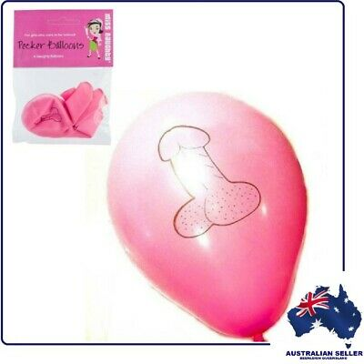 """PENIS PARTY BALLOONS"" 6 Balloons Per Pack, Fun For Hen Parties & Bridal Showers"