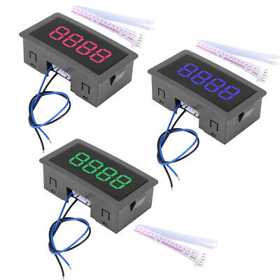4-Digit LED Digital Counter Meter + Hall Sensor NPN Relay Output Switch DC 5-30V