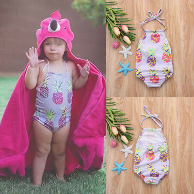 Newborn Kids Baby Girl Sling Pineapple Swimsuit Beachwear Bathing Outfit Clothes