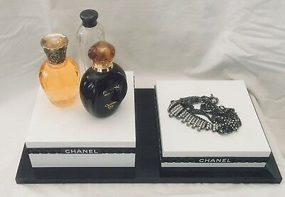 Chanel Store 2 Level Display Tray for Eyewear, Perfume or Jewelry Presentation