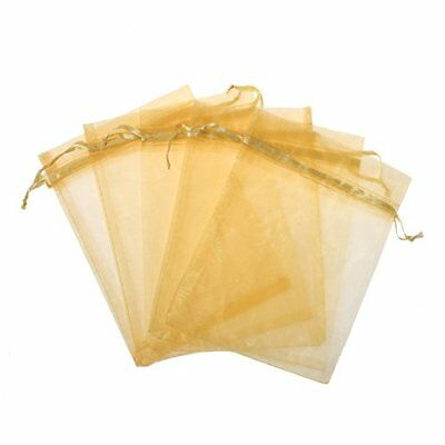 KUPOO Pack of 50PCS 8x12 Inch Organza Drawstring Gift Bag Pouch Wrap for Gold