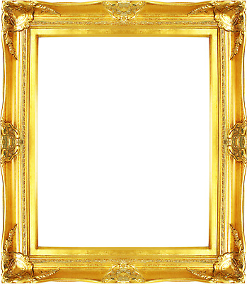 FRAME 24X36- VINTAGE Style Old Gold Ornate Picture Oil Painting ...