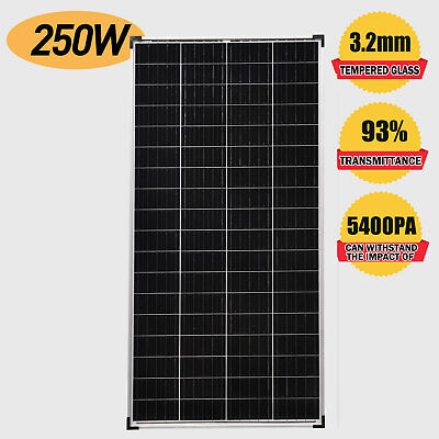 12V 250W Solar Panel Monocrystalline with Anderson Plug MC4 Connector