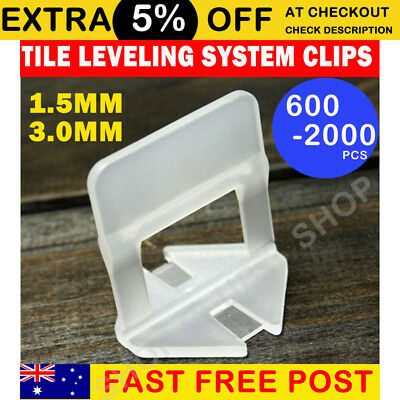 600/1000/2000 Tile Leveling System Clips Wall Floor Tiling Spacer Tool 1.5mm 3mm