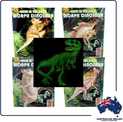 "Pack of 4 ""GLOW IN THE DARK MORPH DINOSAURS WALL STICKERS"""