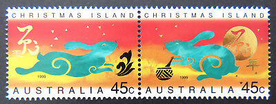 1999 Christmas Island Stamps - Lunar New Year- Year of Rabbit - Set of 2 MNH