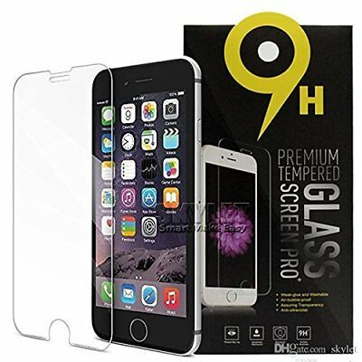 Tempered Glass Clear Screen Protector 9H Hard Guard Apple iPhone X 8 7 6 6s Plus