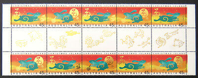 1999 Christmas Island Stamps - Lunar New Year - Year of Rabbit-Gutter-Set 2x5MNH