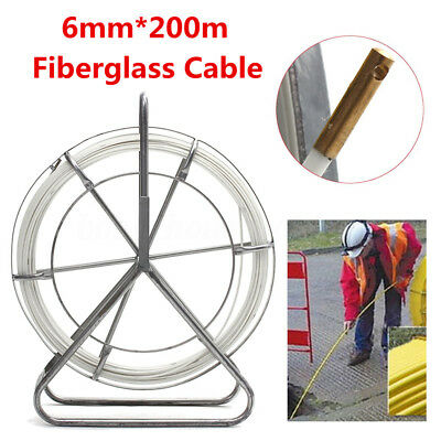 6mm*200m Fish Tape Electric Reel Wire Cable Puller Running Rod Duct Rodder Pull