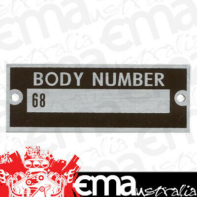 Bob Drake Body Number Plate (Suit 1936 Ford) (BD68-14002)