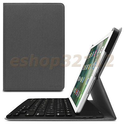 Smart Cover Case with Bluetooth Keyboard for Apple iPad 9.7 Inch 2017 Release
