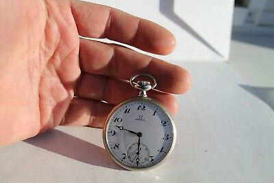 Rare Antique Vintage Old Swiss Made Omega Open Face Pocket Watch.
