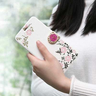 Womens Ladies Flip Flower Butterfly Print Magnetic Girl Case Cover For iPhone  R