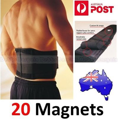 Adjustable Double Pull Bio Magnetic Lumbar & Lower Back Support Belt Brace Strap