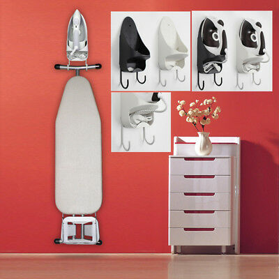 1pcs Wall Mount Ironing Board Hook Holder Storage White/Black Organizer Holder