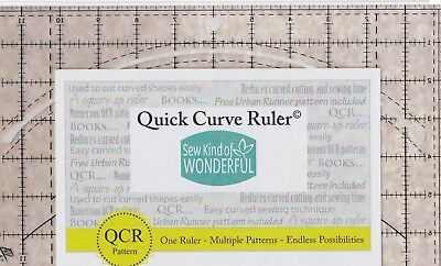 Quick Curve Ruler - fabulous new ruler for cutting curves- Sew Kind of Wonderful