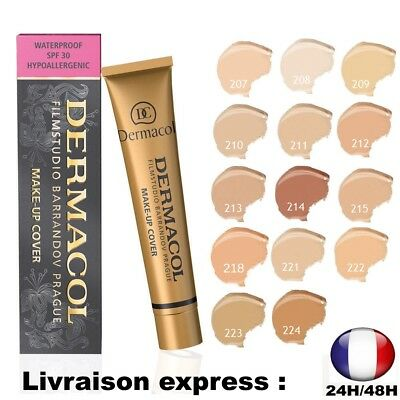 Dermacol Make-Up Cover Fond De Teint Ultra Couvrant Hypoallergenique  208