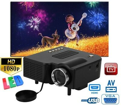 Excelvan Mini Beamer Multimedia LED/LCD HOME Video Projektor Heimkino USB HDMI