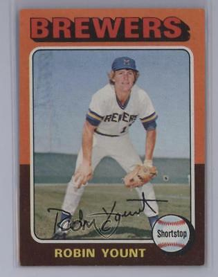 1975 Topps #223 Robin Yount Milwaukee Brewers RC Rookie Baseball Card