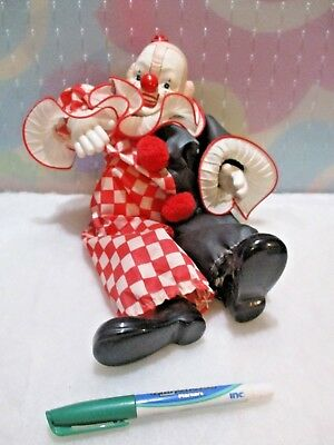 "Vintage 12"" Wind Up Clown Doll"