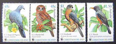 2002 Christmas Island Stamps - Christmas Island Birds - Set of 4 MNH