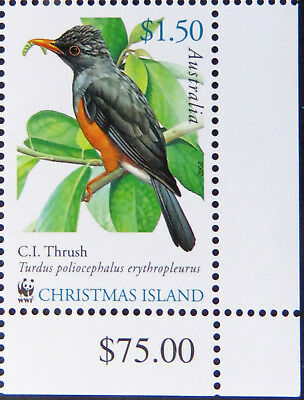2002 Christmas Island Stamps - Christmas Island Birds - Cnr Single x $1.50 MNH