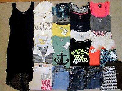 Huge Womens Juniors XS Small Outfits Clothes Lot Aeropostale Nike Rue 21 NWT/EUC
