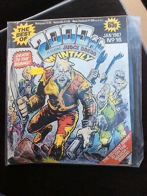 2000AD THE BEST OF No 16 JANUARY 1987 JUDGE DREDD
